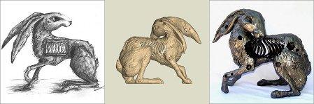 Hare created by SculptCAD Rapid Artist Heather Gorman