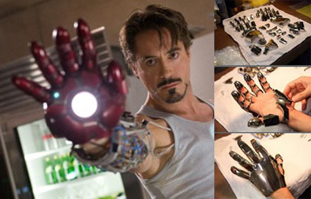 Iron Man Glove produced on 3d printer