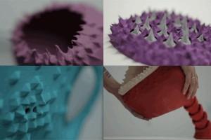 Interactive Sculptures created using Cloud9 by Farah Bandookwala