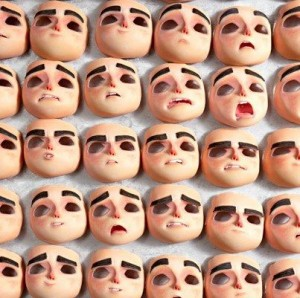 Facial expressions are printed out in colour on Lakias 3D printers