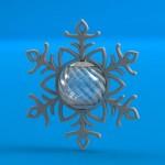 Elegant Spinning Snowflake